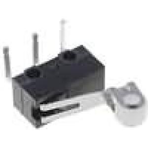 Mikrospínač s páčkou (s kladkou) SPDT 0,1A/30VDC ON-(ON)