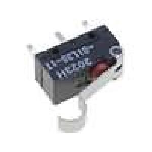 Mikrospínač s páčkou simulující kladku SPDT 0,1A/125VAC IP60