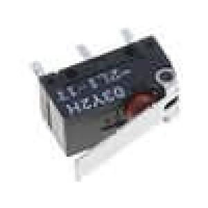 Mikrospínač s páčkou SPDT 2A/125VAC 2A/30VDC ON-(ON) IP60