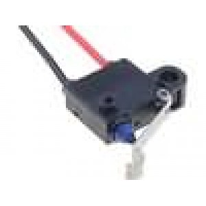 Mikrospínač s páčkou simulující kladku SPST-NC 0,1A/125VAC