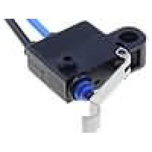 Mikrospínač s páčkou simulující kladku SPST-NO 0,1A/125VAC