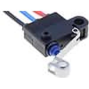 Mikrospínač s páčkou (s kladkou) SPDT 0,1A/125VAC 2A/12VDC