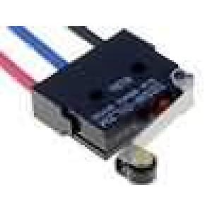 Mikrospínač s páčkou (s kladkou) SPDT 0,1A/125VAC 0,1A/30VDC