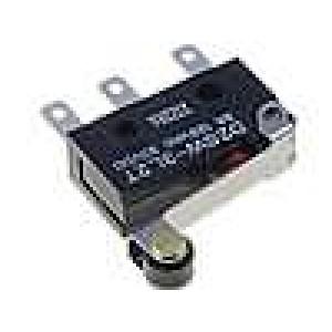 Mikrospínač s páčkou (s kladkou) SPDT 3A/125VAC 3A/30VDC