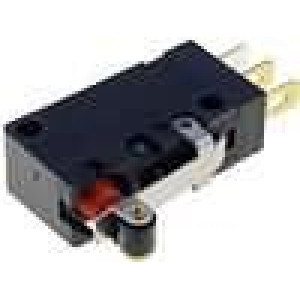Mikrospínač s páčkou (s kladkou) SPDT 5A/250VAC 5A/30VDC