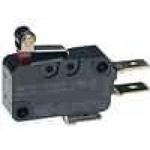 Mikrospínač s páčkou (s kladkou) SPDT 16A/250VAC 10A/30VDC