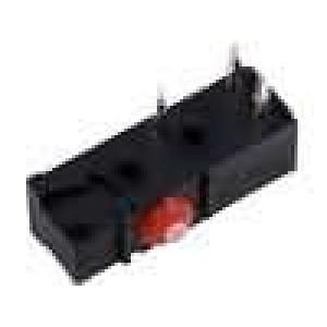 Mikrospínač bez páčky SPDT 1A/250VAC ON-(ON) 1-polohové IP54