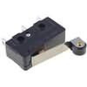 Mikrospínač s páčkou (s kladkou) SPDT 10A/250VAC ON-(ON)