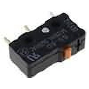 Mikrospínač bez páčky SPDT 5A/125VAC ON-(ON) 1-polohové IP40