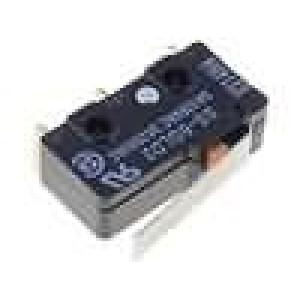 Mikrospínač s páčkou SPDT 5A/125VAC ON-(ON) 1-polohové IP40