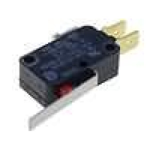 Mikrospínač s páčkou SPDT 16A/250VAC 0,6A/125VDC ON-(ON)