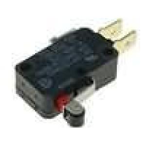 Mikrospínač s páčkou (s kladkou) SPDT 16A/250VAC 0,6A/125VDC