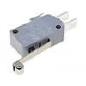 Mikrospínač s páčkou (s kladkou) SPDT 16A/250VAC ON-(ON)