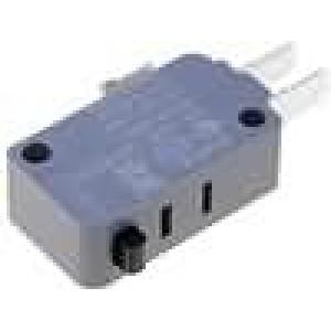 Mikrospínač bez páčky SPDT 16A/250VAC ON-(ON) 1-polohové
