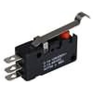 Mikrospínač s páčkou simulující kladku SPDT 5A/30VAC ON-(ON)