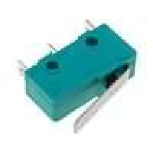 Mikrospínač s páčkou SPDT 5A/250VAC ON-(ON) 1-polohové IP40