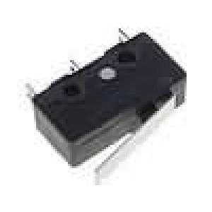 Mikrospínač s páčkou SPDT 3A/250VAC ON-(ON) 1-polohové IP40