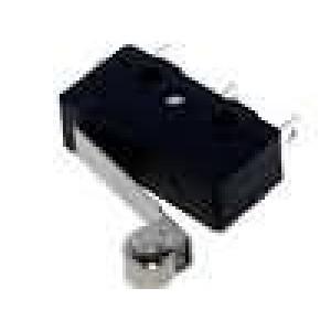 Mikrospínač s páčkou (s kladkou) SPDT 3A/250VAC ON-(ON) IP40