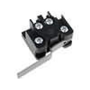 Mikrospínač s páčkou SPST-NO + SPST-NC 6A/400VAC ON-(ON)