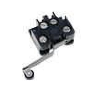 Mikrospínač s páčkou (s kladkou) SPST-NO + SPST-NC 6A/400VAC
