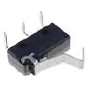Mikrospínač s páčkou s vyhnutým koncem SPDT 5A/250VAC IP40