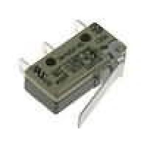 Mikrospínač s páčkou SPDT 6A/250VAC ON-(ON) 1-polohové IP40