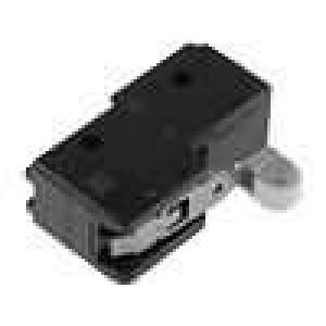 Mikrospínač s krátkou páčkou, s kladkou SPDT 15A/125VAC