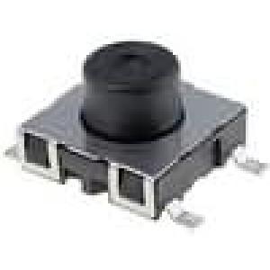 Mikrospínač 1-polohové SPST-NO 0,01A/12VDC SMT 2,2N 4,95mm
