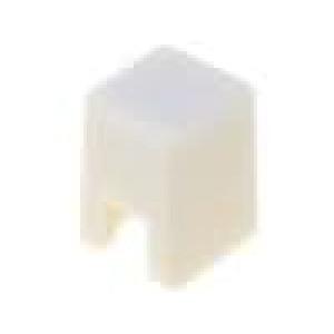 Hmatník čtvercový 4x4mm barva slonovina