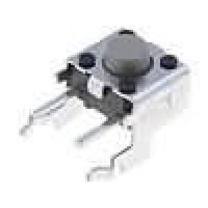Mikrospínač 1-polohové SPST-NO 0,05A/24VDC THT 1,47N 6x6mm