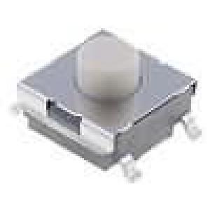Mikrospínač 1-polohové SPST-NO 0,05A/24VDC SMT 1,47N 6x6mm
