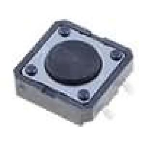 Mikrospínač 1-polohové SPST-NO 0,05A/24VDC SMT 1,47N 12x12mm