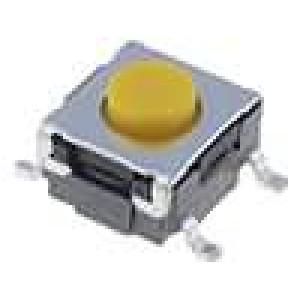Mikrospínač 1-polohové SPST-NO 0,05A/24VDC SMT 2,26N 6x6mm