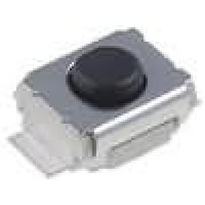 Mikrospínač 1-polohové SPST-NO 0,05A/24VDC SMT 0,49N 2,5x3mm