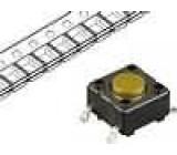 Mikrospínač 1-polohové SPST-NO 0,05A/12VDC SMT 5,2N 4,3mm