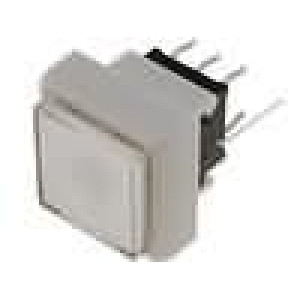 Mikrospínač 1-polohové DPDT 0,1A/30VDC THT LED modrá 1,5N