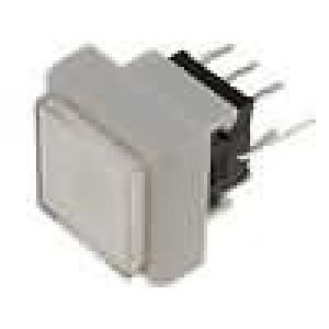 Mikrospínač 1-polohové DPDT 0,1A/30VDC THT LED bílá 1,5N
