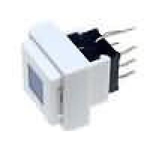 Mikrospínač 2 polohy DPDT 0,1A/30VDC THT LED modrá 1,5N bílá