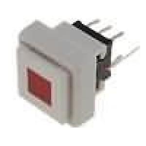 Mikrospínač 1-polohové DPDT 0,1A/30VDC THT LED červená 1,5N