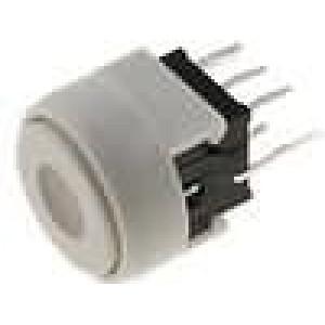 Mikrospínač 2 polohy DPDT 0,1A/30VDC THT LED červená/