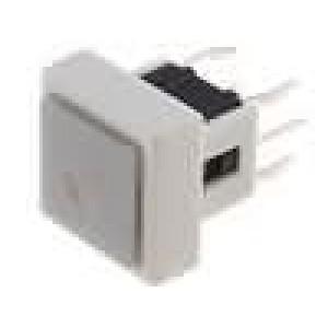 Mikrospínač 1-polohové SPST-NO 0,05A/12VDC THT LED 1,6N 10mm