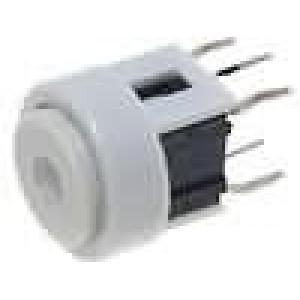 Mikrospínač 1-polohové SPST-NO 0,05A/12VDC THT LED