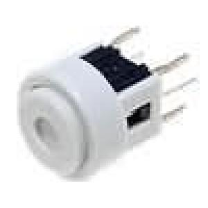 Mikrospínač 1-polohové SPST-NO 0,05A/12VDC THT LED modrá
