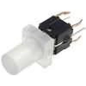Mikrospínač 1-polohové SPST-NO 0,05A/12VDC THT LED červená