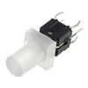 Mikrospínač 1-polohové SPST-NO 0,05A/12VDC THT LED 1,6N 18mm