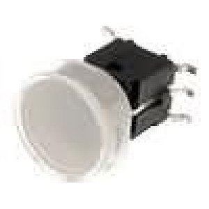 Mikrospínač 1-polohové SPST-NO 0,05A/48VDC SMT LED modrá