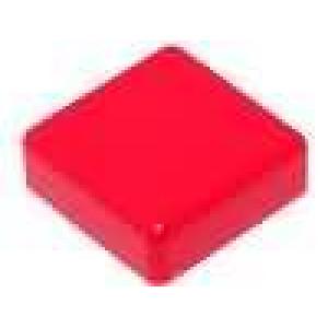 Hmatník čtvercový červená pro TACTS-24 12x12mm
