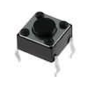 Mikrospínač 1-polohové SPST-NO 0,05A/12VDC THT 1N 6x6mm