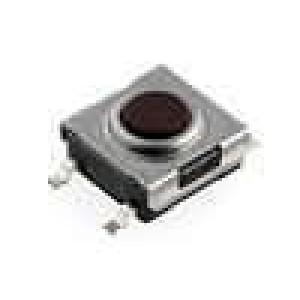 Mikrospínač 1-polohové SPST-NO 0,05A/12VDC SMT 1,6N 6x6,2mm