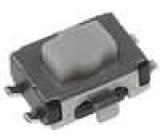 Mikrospínač 1-polohové SPST-NO 0,05A/12VDC SMT 1,6N 2,5mm